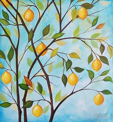 Lemom Tree Art Print by Peggy Davis