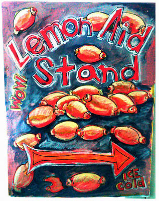 Painting - Lemon Aid Stand 1 by Don Thibodeaux