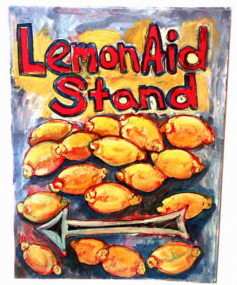 Painting - Lemon Aid Stand 2 by Don Thibodeaux