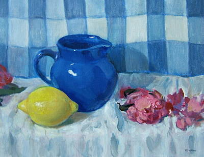 Painting - Lemon And Blues by Robert Holden