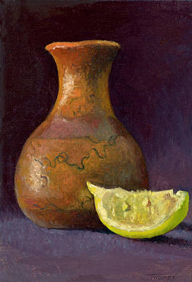 Painting - Lemon And Horsehair Vase A First Meeting by Catherine Twomey