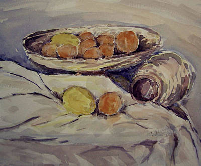Painting - Lemon And Oranges by Naini Kumar