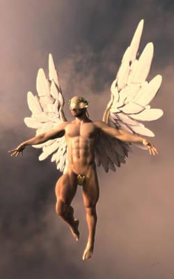 Seraphim Angel Digital Art - Lemon Angel by Joaquin Abella