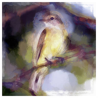 Flycatcher Digital Art - Lemon Bellied Flycatcher II by Ronald Bolokofsky