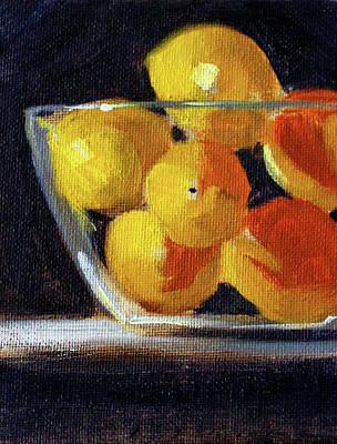 Painting - Lemon Bowl by Nancy Merkle