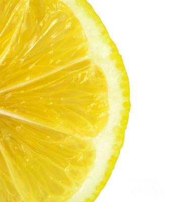 Lemon Close Up Art Print by Deyan Georgiev