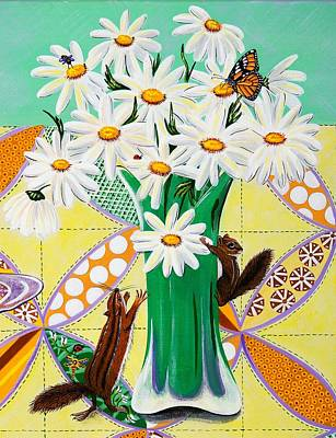 Painting - Lemon Daisies by Jennifer Lake