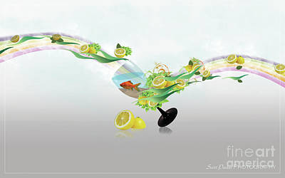 Digital Art - Lemon Fish by Scott Parker