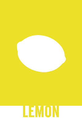 Lemon Mixed Media - Lemon Food Art Minimalist Fruit Poster Series 012 by Design Turnpike
