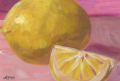 Marcy Painting - Lemon Glow by Marcy Brennan