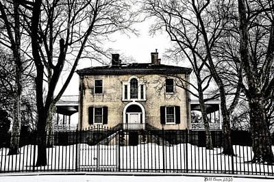 Mansion Digital Art - Lemon Hill Mansion - Philadelphia by Bill Cannon