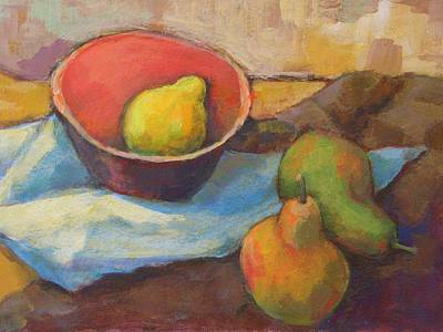 Table Cloth Painting - Lemon In The Bowl.  by Alfons Niex