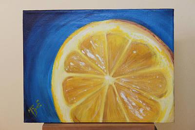 Lemon Art Print by Matt Burke