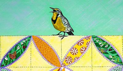 Painting - Lemon Meadowlark by Jennifer Lake