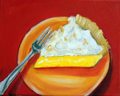 Painting - Lemon Meringue Pie by Katy Hawk