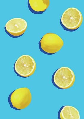 Blue Color Digital Art - Lemon Pattern by Rafael Farias