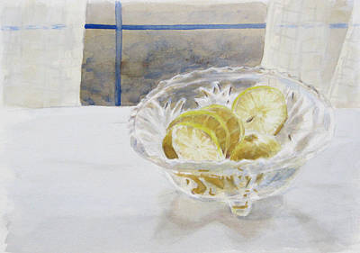 Painting - Lemon Slices by Christopher Reid
