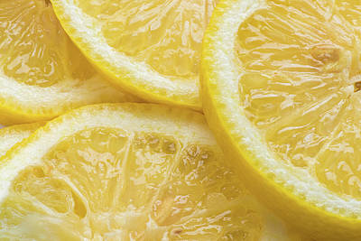 Yellow Photograph - Lemon Slices Number 3 by Steve Gadomski
