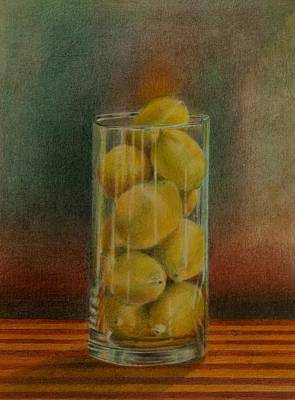 Drawing - Lemon Stack by Lynn Hughes