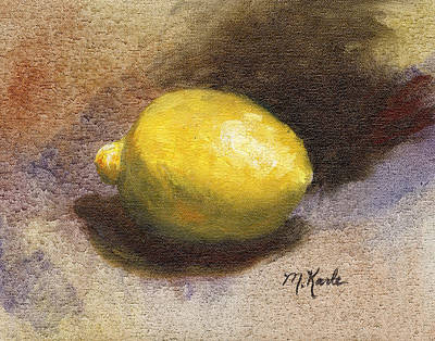 Painting - Lemon Still Life by Marsha Karle