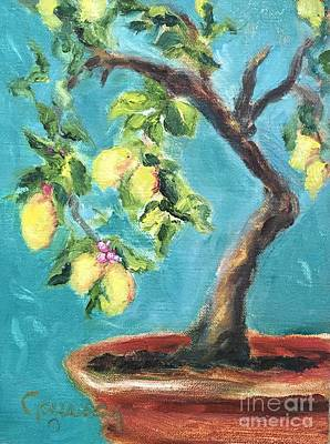 Painting - Lemon Tree At La Consuma by Kathy Lynn Goldbach