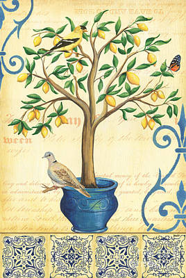 Doves Painting - Lemon Tree Of Life by Debbie DeWitt