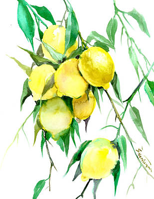 Lemon Tree Art Print by Suren Nersisyan