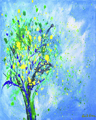 Painting - Lemon Tree Vertical Abstract Painting by Gina De Gorna