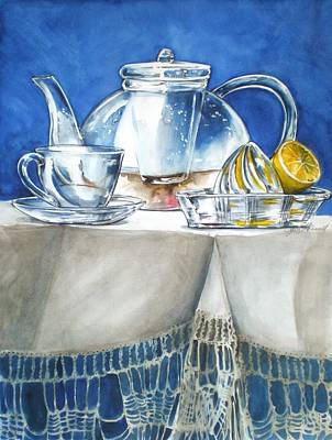 Lemon With Your Tea Art Print