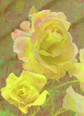 Photograph - Lemon Yellow Roses by Nareeta Martin