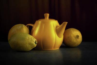 Food Photograph - Lemon Yellow by Tom Mc Nemar