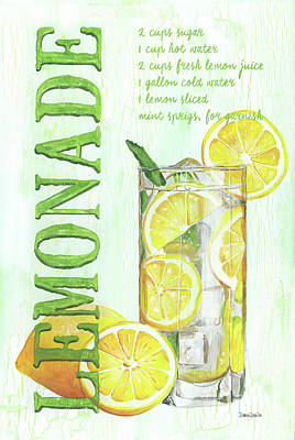 Lemon Painting - Lemonade by Debbie DeWitt