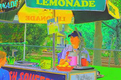 Digital Art - Lemonade Stand by Cliff Wilson