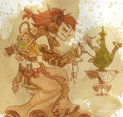 Steampunk Wall Art - Painting - Lemongrass by Brian Kesinger