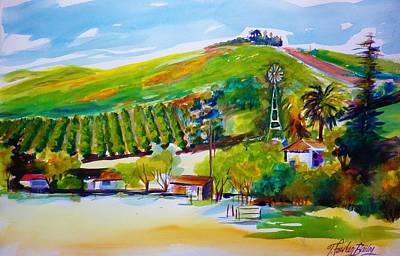 Painting - Lemons 400 From Sharons View by Therese Fowler-Bailey