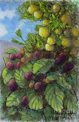 Painting - Lemons And Berries by Laurie Morgan