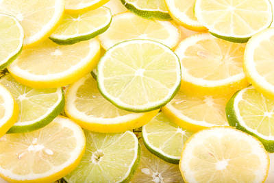 Lemons And Limes Abstract Art Print by James BO  Insogna