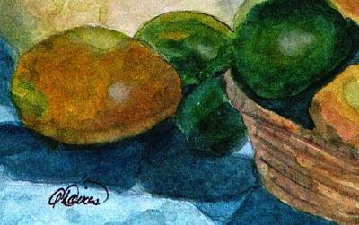 Painting - Lemons And Limes by Angela Davies