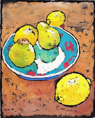 Painting - Lemons And Pears by Ruth Kamenev