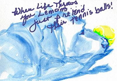 Tennis Ball Drawing - Lemons And Tennis Balls by Sheila Wedegis