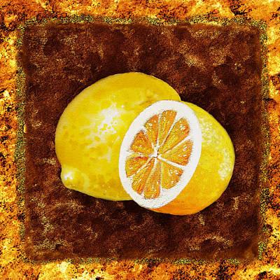 Painting - Lemons By Irina Sztukowski by Irina Sztukowski