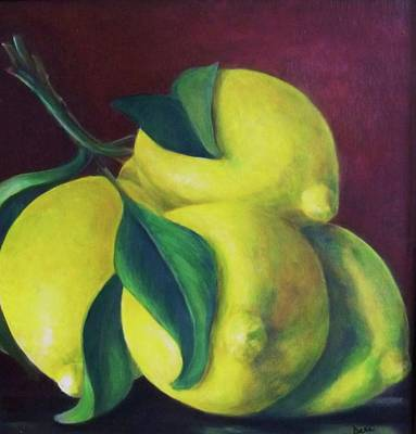 Painting - Lemons by Dana Redfern