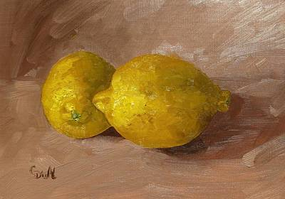 Painting - Lemons by Grace Diehl
