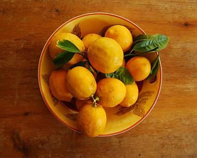 Photograph - Lemons In Bowl by Jocelyn Friis