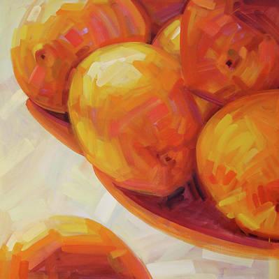 Tangerines Painting - Lemons In Natural Light IIi by Penelope Moore