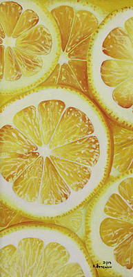 Lemon Mixed Media - Lemons by Kayleigh Semeniuk