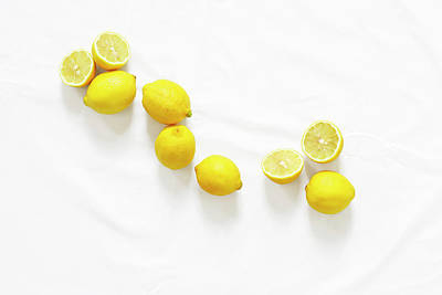 Lemons Art Print by Lauren Mancke