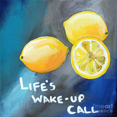 Cuisine Mixed Media - Lemons by Linda Woods