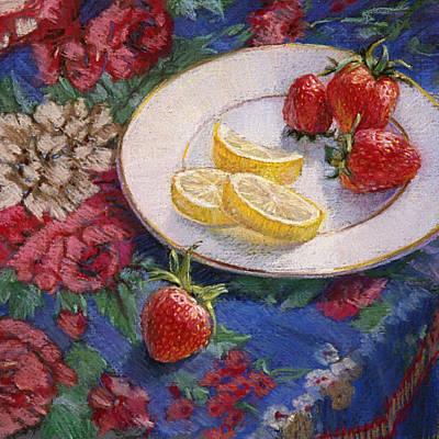 Lemons N Berries Art Print by L Diane Johnson