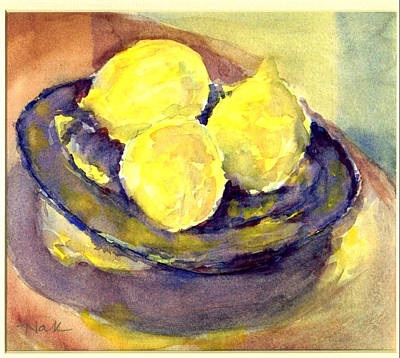 Painting - Lemons by Naini Kumar